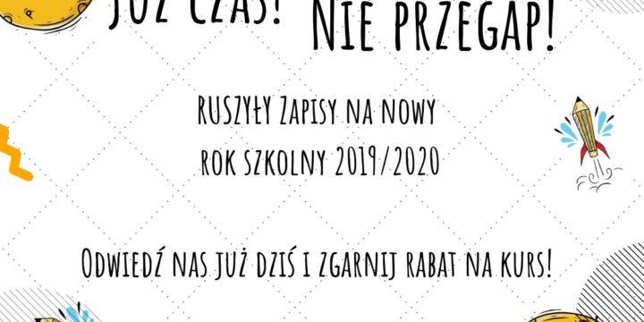 Zapisy na nowy rok szkolny 2019/2020